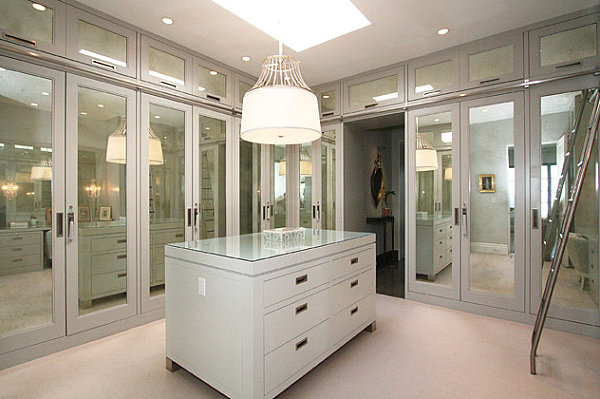 Mirrored closet doors modern