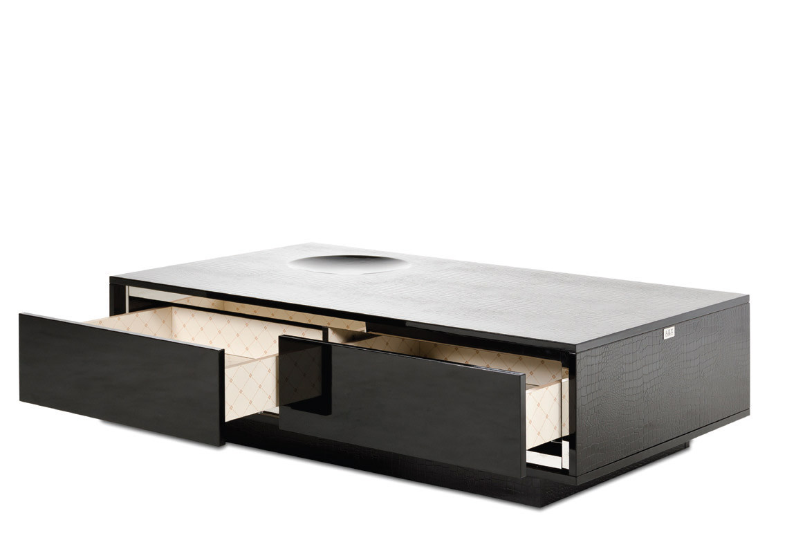 Modern coffee table drawers