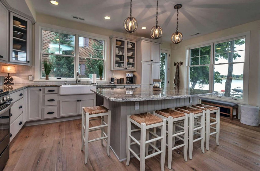 Modern country kitchen island