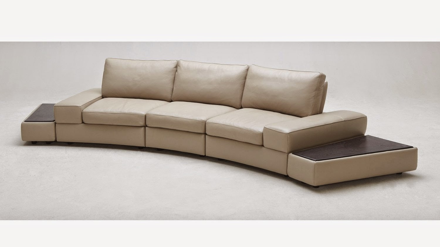 Modern curved sectional sofas