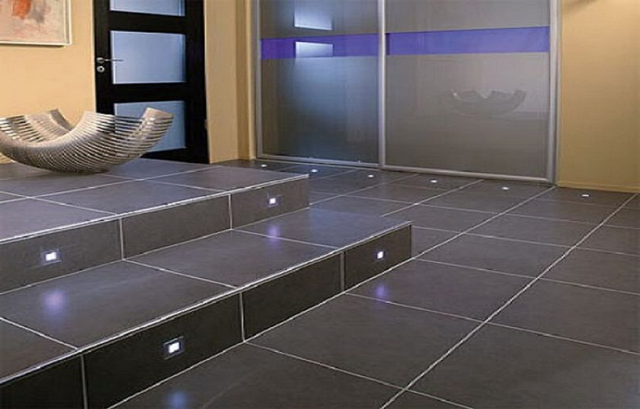 Modern floor tiles bathroom