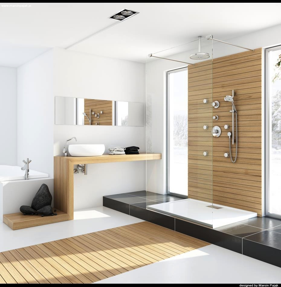 Modern spa bathroom design