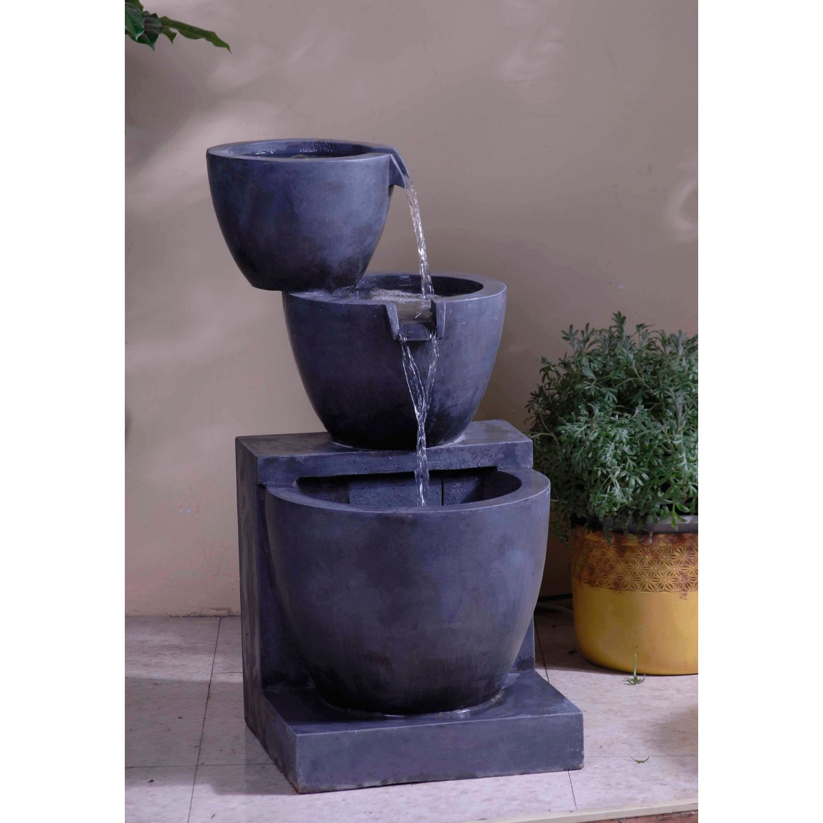 Modern water fountains indoor