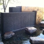 Modern water fountains outdoor