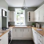 Narrow u shaped kitchen designs