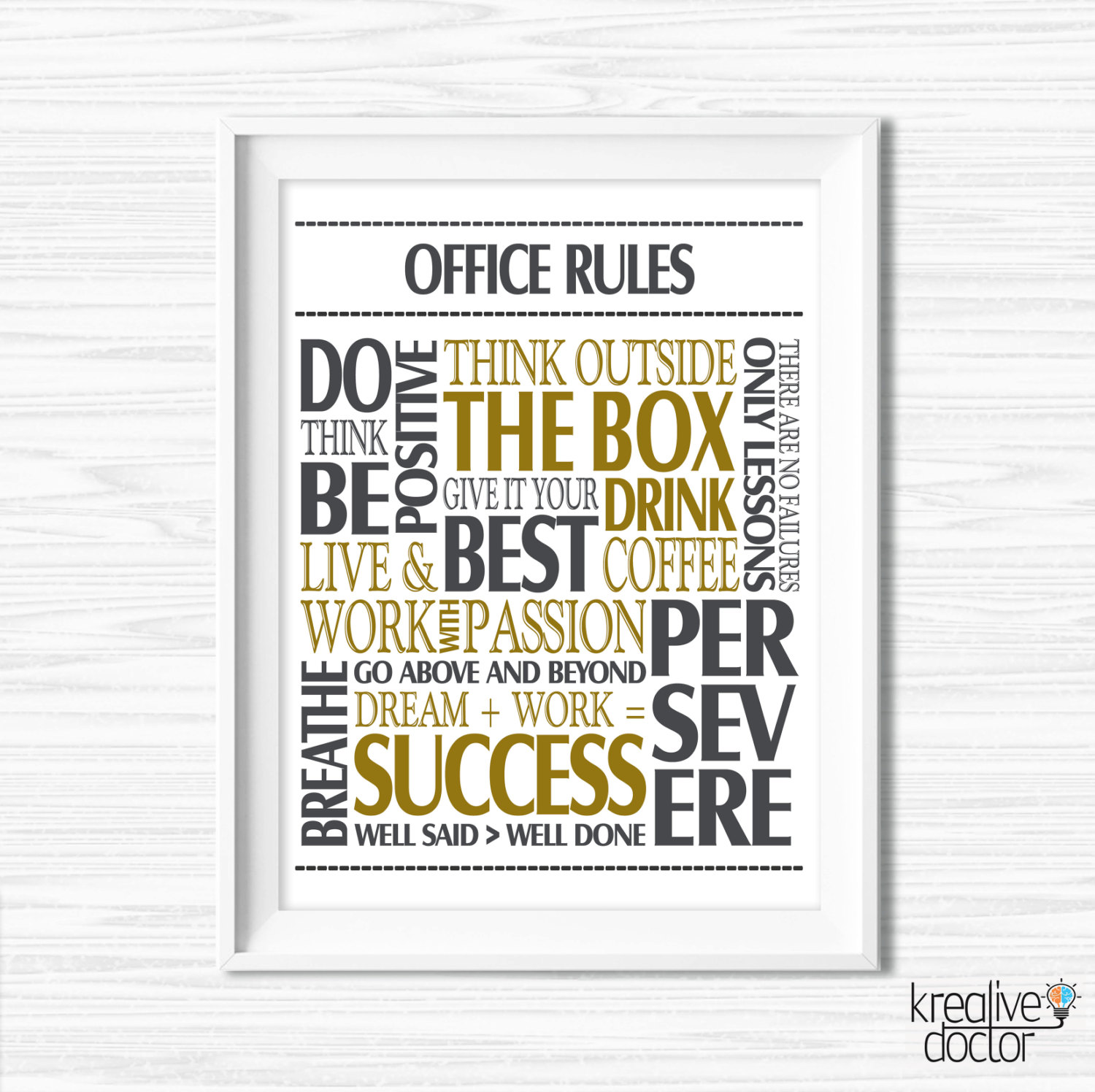 Office wall decor motivational