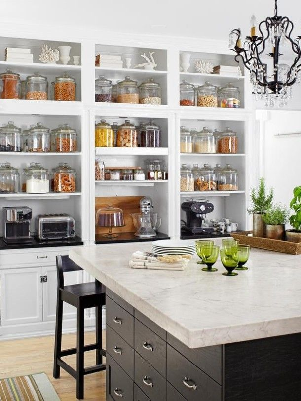 Open kitchen pantry