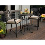 Outdoor bar height bistro sets