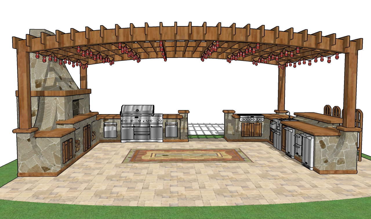 Outdoor bar roof design