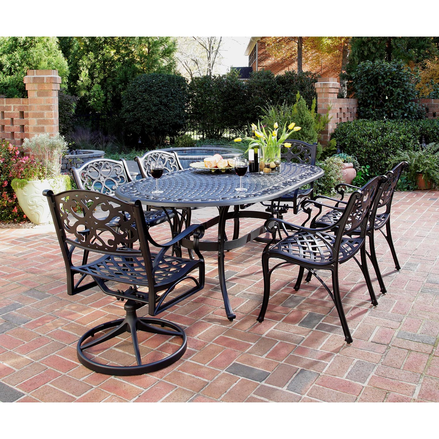 Outdoor dining sets black