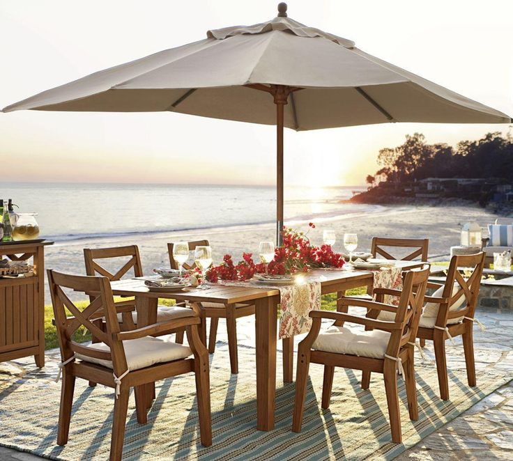 Outdoor dining sets pottery barn