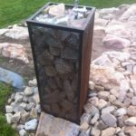 Outdoor garden drinking fountain