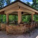 Outdoor kitchen gazebo