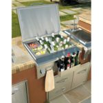 Outdoor kitchen ice bin