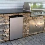 Outdoor kitchen islands kits