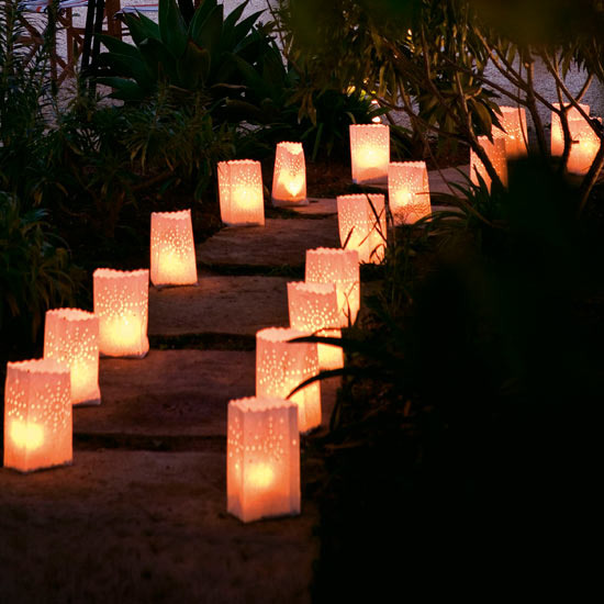 Outdoor party lights ideas