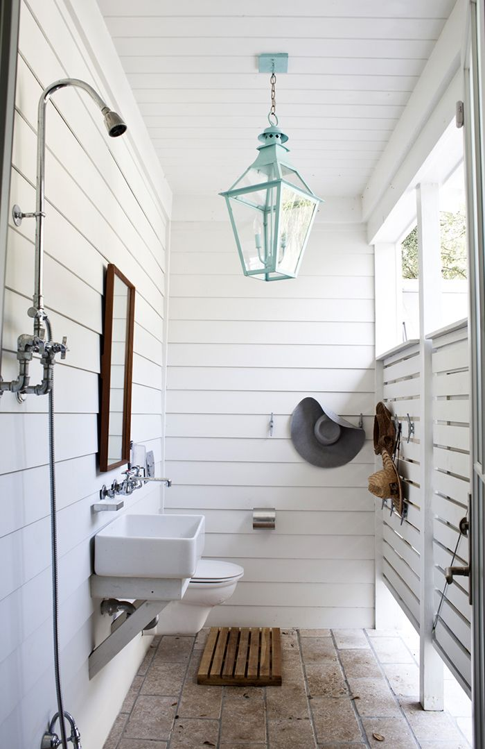 Outdoor shower bathroom