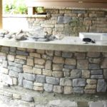 Outdoor stone bar designs