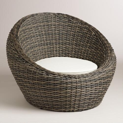 Outdoor wicker egg chair