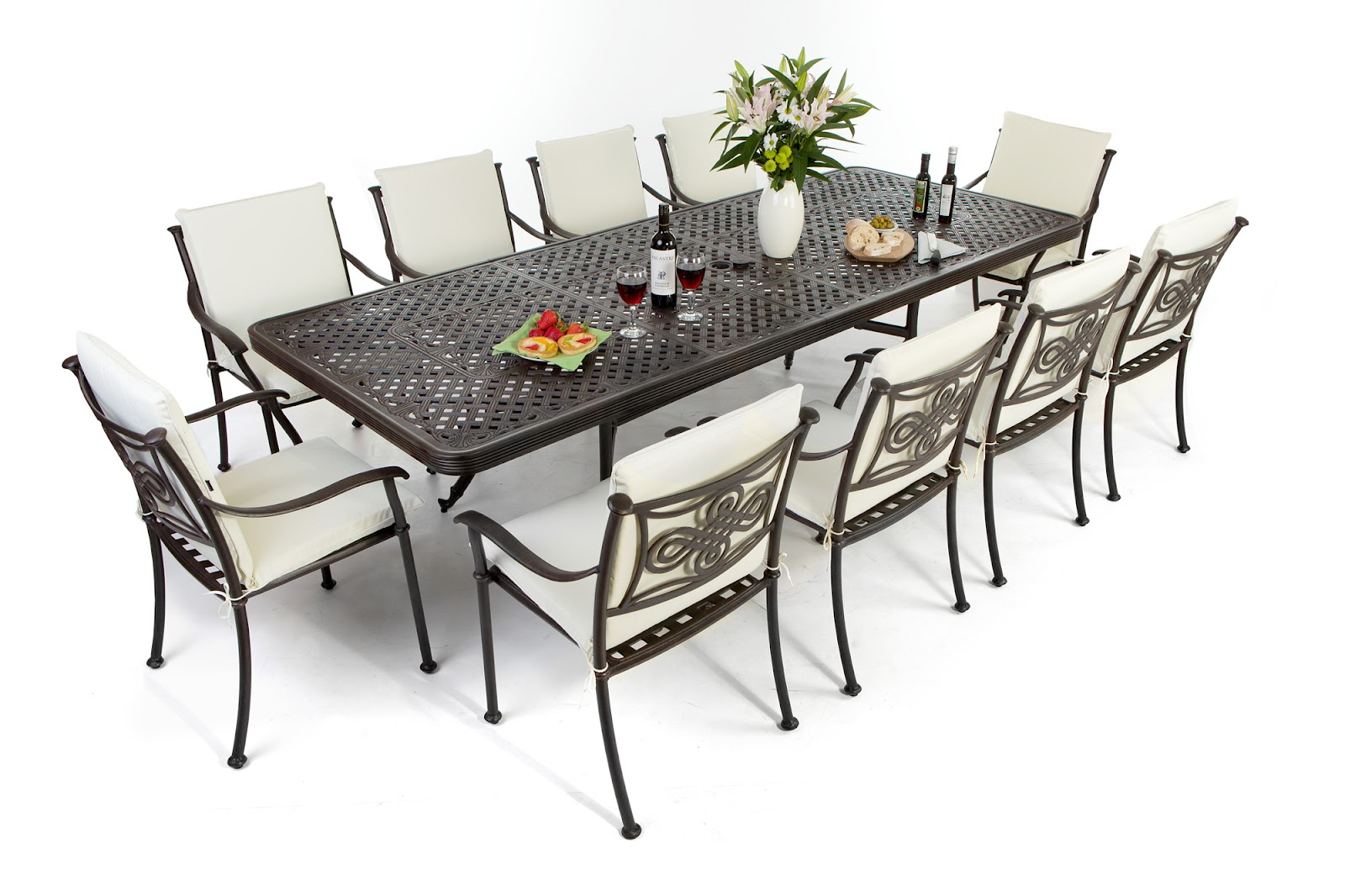 Outdoor wicker furniture dining sets