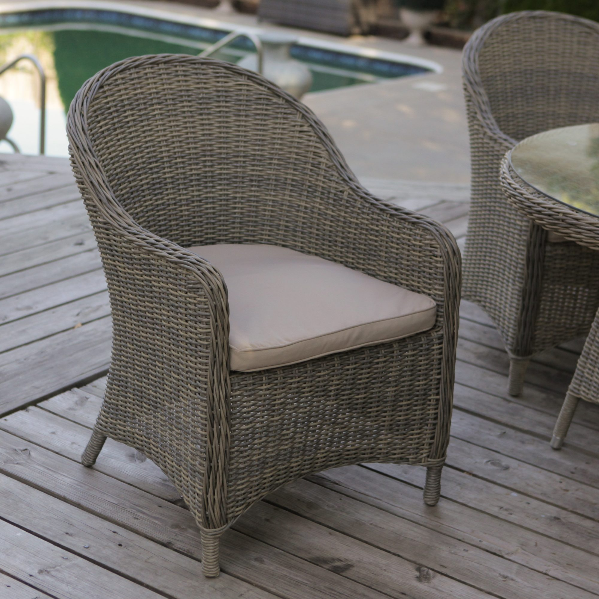 Outdoor wicker furniture for children