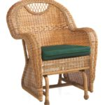 Outdoor wicker furniture glider