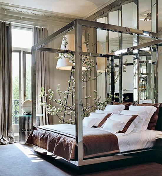 Parisian mirrored bedroom furniture