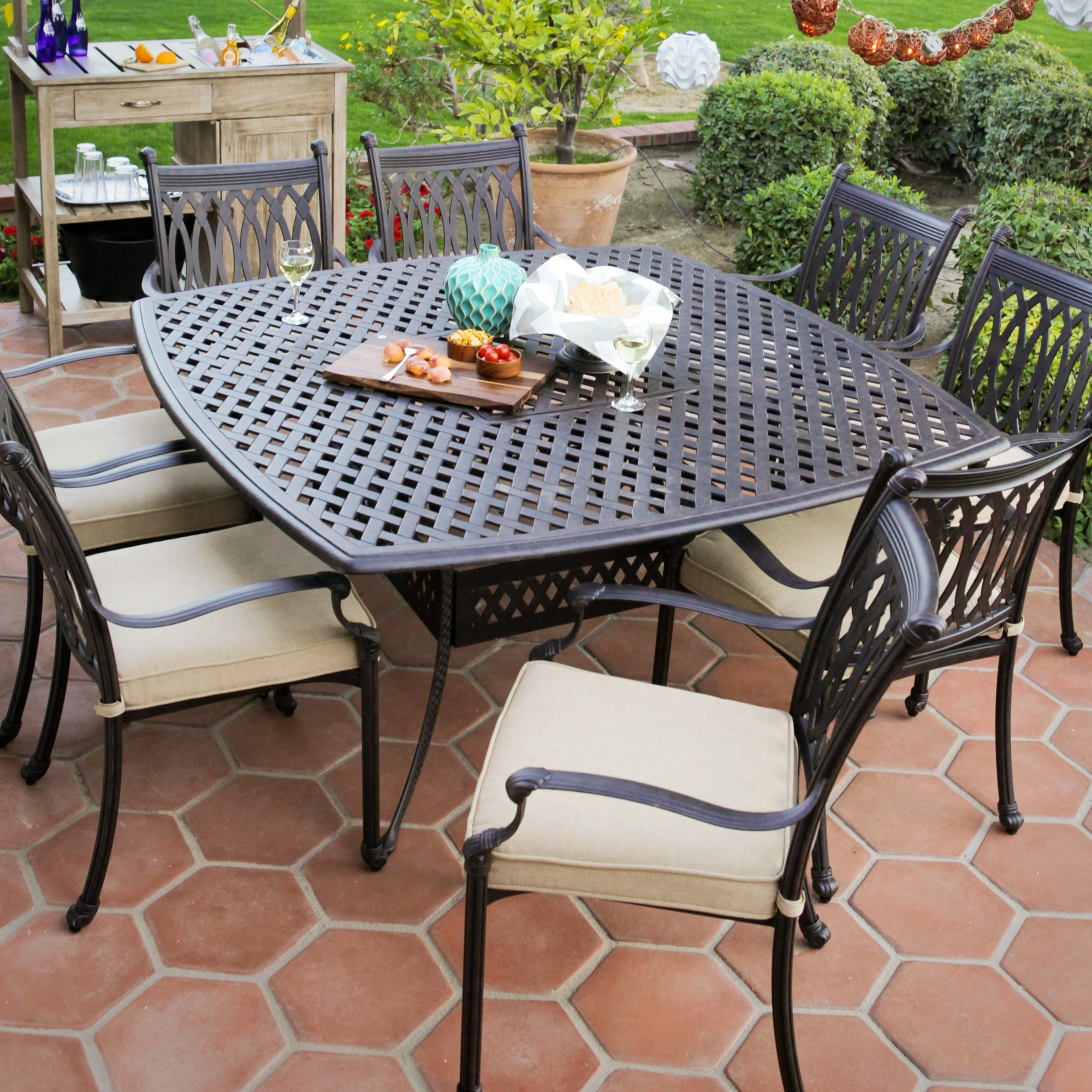 Patio dining sets for 8
