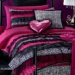 Pink leopard print bedroom accessories