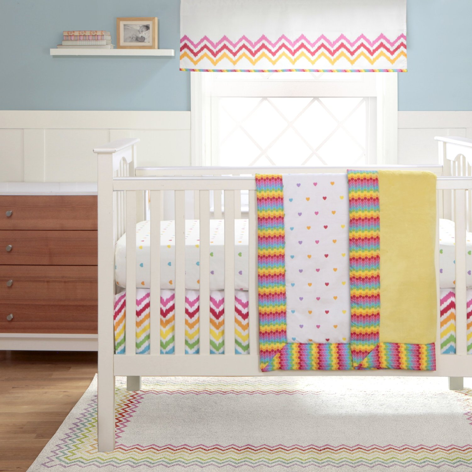 Rainbow baby bedding