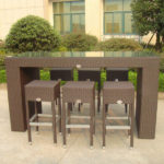 Resin outdoor bar sets