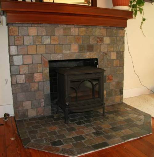 Slate tiles for a hearth