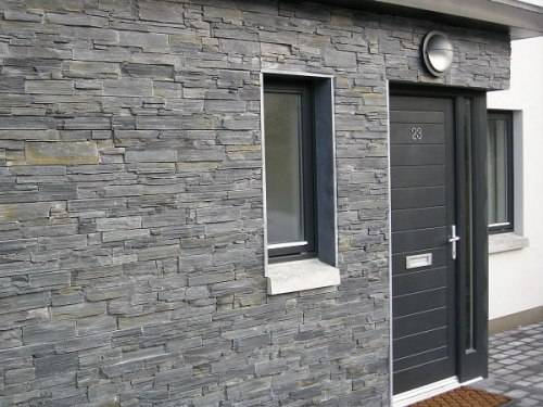 Slate tiles for outside walls