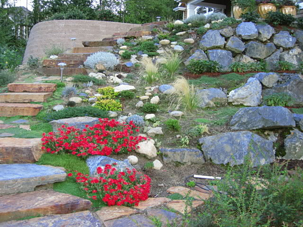 Sloped rock garden ideas