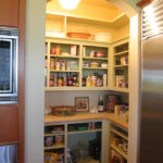 Small kitchen open pantry