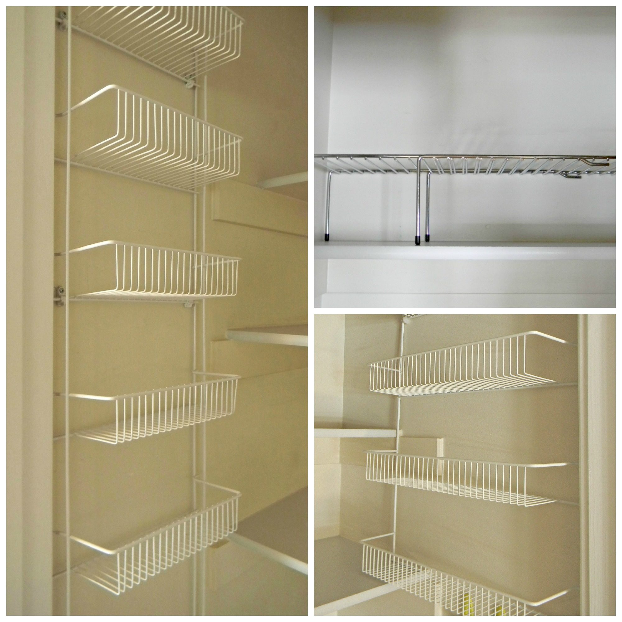 Small pantry shelving systems