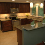 U shaped kitchen renovation