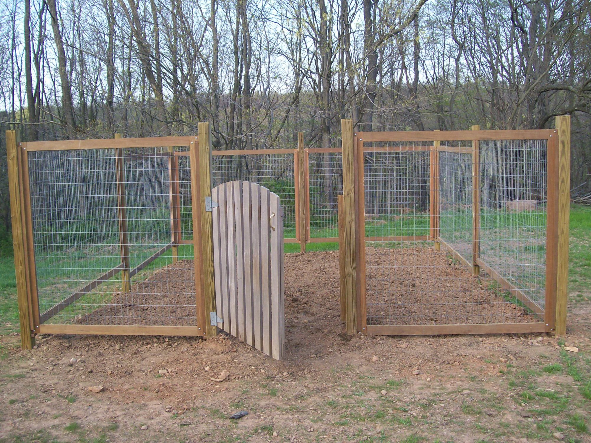 Vegetable garden fence panels