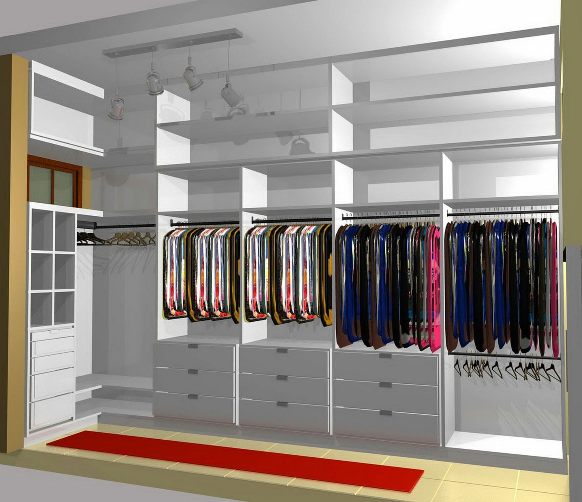 Walk in closet small bedroom
