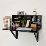 Wall mounted desk shelf