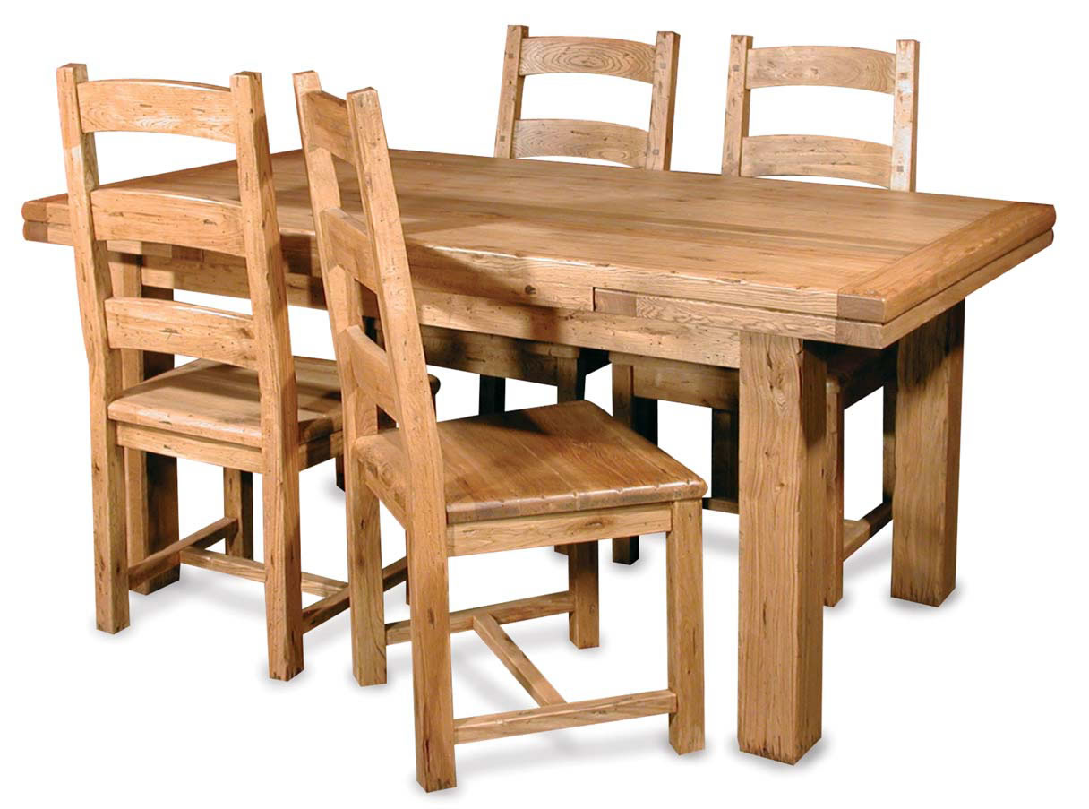 Wooden dining tables and chairs