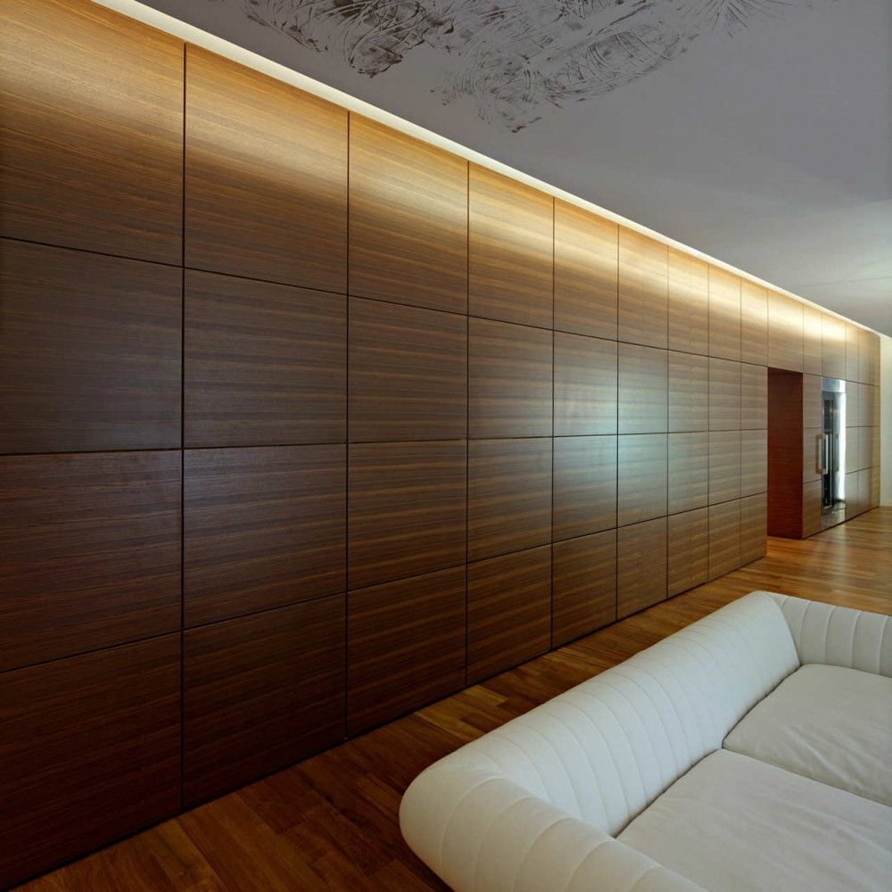 Wooden wall design interior