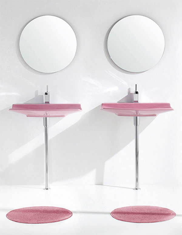 Aquaplus Pink Bathroom Fixtures Lilac photo - 1