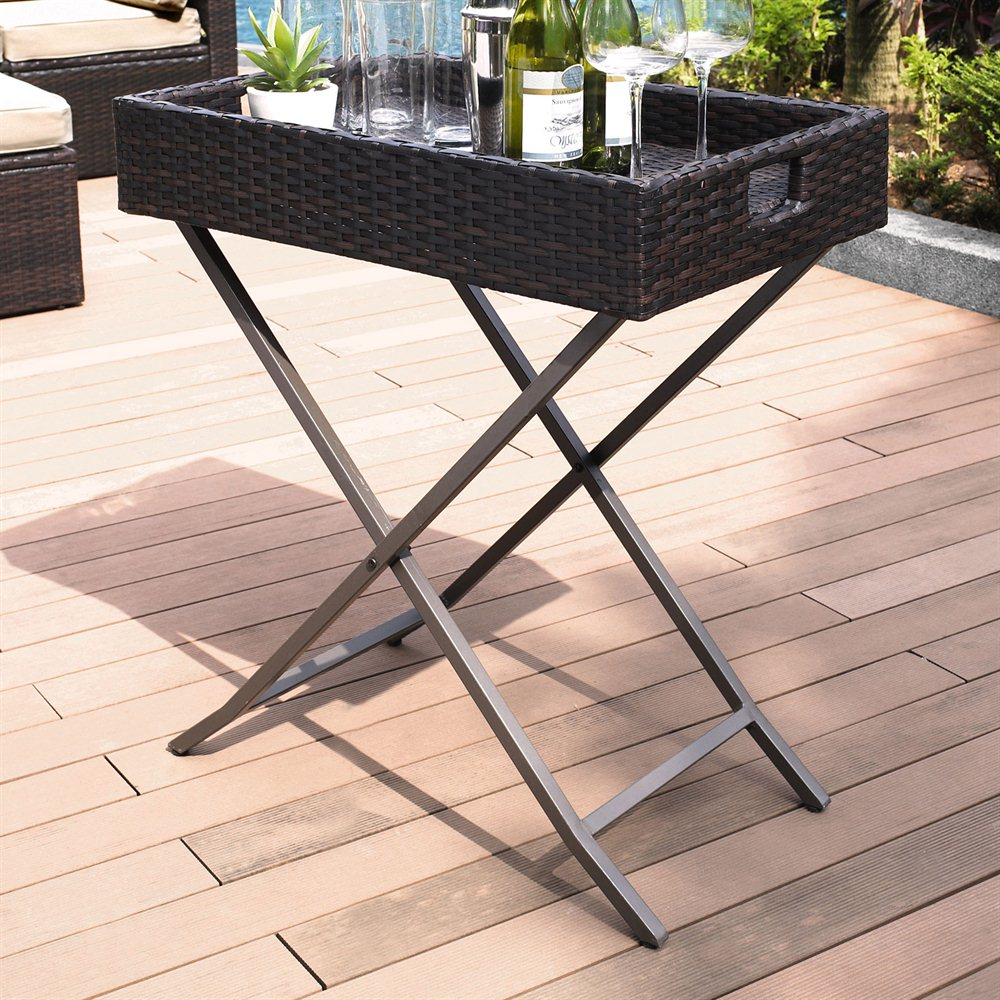 Bar Harbor Outdoor Wicker Accent Table photo - 1