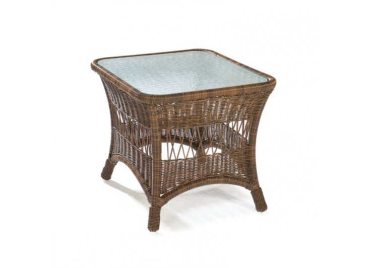Bar Harbor Outdoor Wicker Accent Table photo - 6
