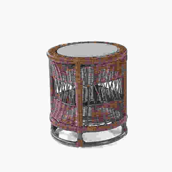 Bar Harbor Outdoor Wicker Accent Table photo - 7