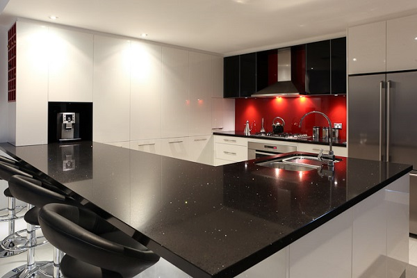 Black and Red Modern Kitchen photo - 7