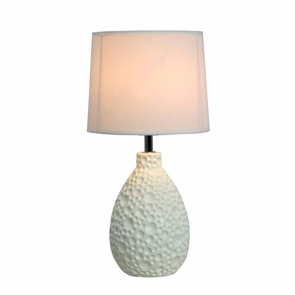 Charming White Flower Table Lamp Design photo - 9