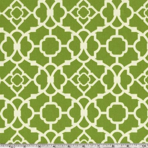 Geometric Green Wallpaper with Rattan Chair photo - 4