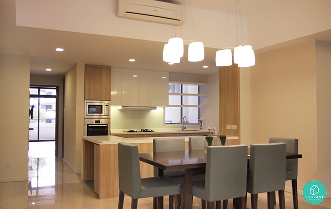 Kitchen with Sunlight Interior Concept photo - 5